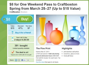 Groupon: CraftBoston Deal
